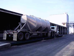 Tanker truck weighing in.
